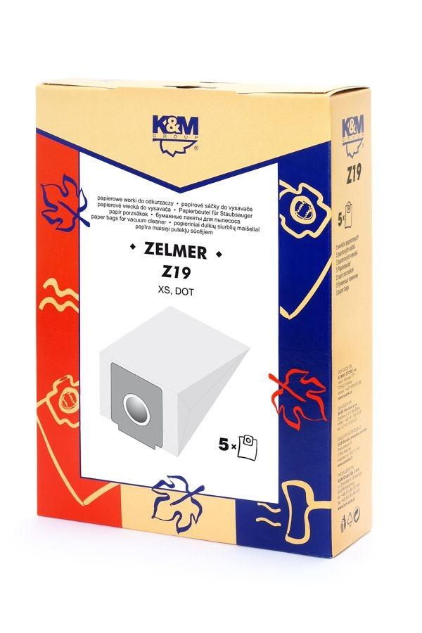 Sáčky a filtry - K&M SÁČKY Z19 ZELMER XS 01Z011