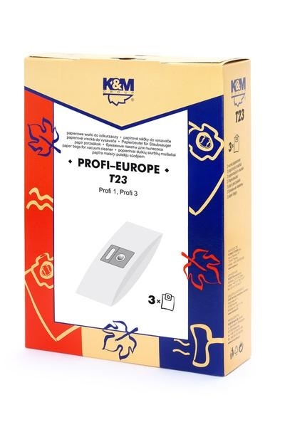 Sáčky a filtry - K&M SÁČKY T23/micro PROFI 1,  PROFI 3 (3+0)
