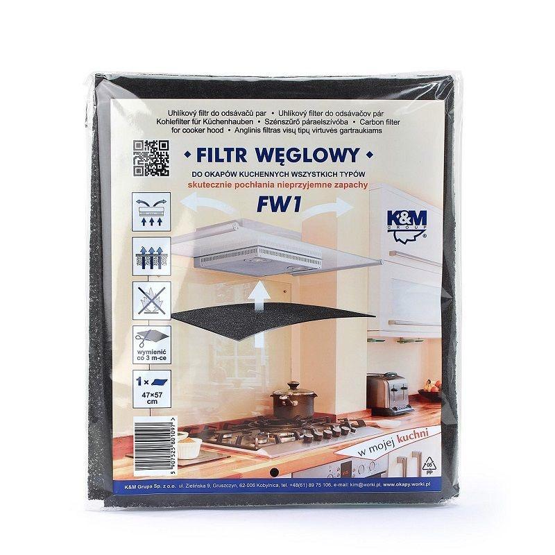 Vestavné spotřebiče - Uhlíkový filtr FW1
